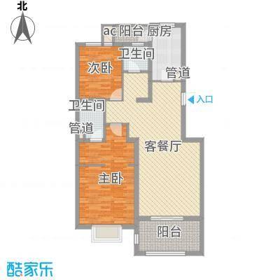 申亚瑞庭121.82㎡3号02室,5号01、02室户型2室2厅2卫