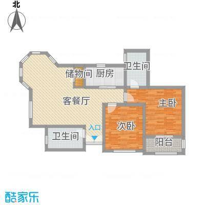 奉城商都120.00㎡二房二厅-120平方米-22套户型2室2厅2卫