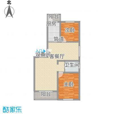 上地公寓112.46㎡上地公寓112.46㎡2室2厅1卫1厨户型2室2厅1卫1厨