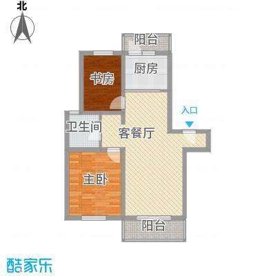 上地公寓96.37㎡上地公寓96.37㎡2室1厅1卫1厨户型2室1厅1卫1厨