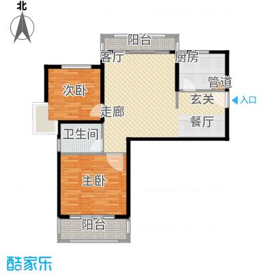 中信和平家园89.00㎡J户型2室2厅1卫89㎡户型2室2厅1卫1厨
