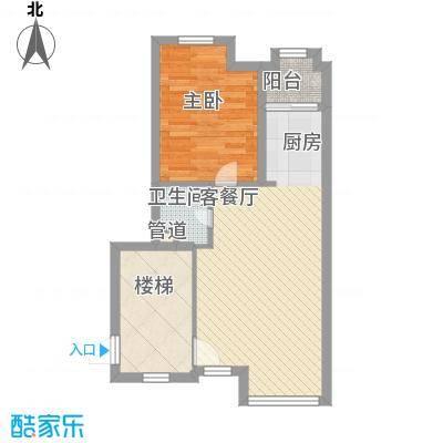 满庭芳花园63.37㎡上海(全装修现房)户型1室2厅1卫1厨