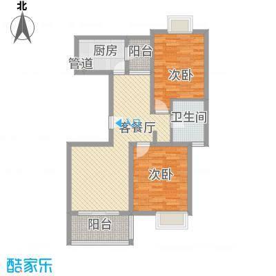 丰景湾名邸100.00㎡上海户型图A4户型2室2厅1卫1厨