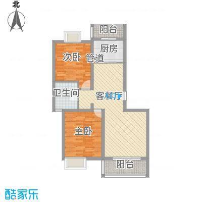 丰景湾名邸100.00㎡上海户型图A5户型2室2厅1卫1厨