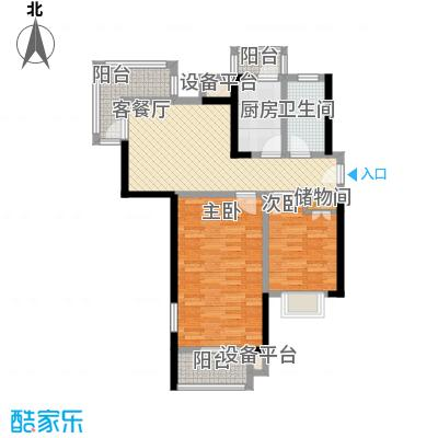 欣安基公寓105.48㎡欣安基公寓105.48㎡2室1厅2卫1厨户型2室1厅2卫1厨