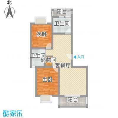 三岛龙州苑98.00㎡21号楼标准B户型2室1厅1卫1厨