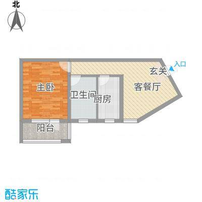 真情公寓三期69.92㎡真情公寓三期1室1厅1卫1厨户型1室1厅1卫1厨