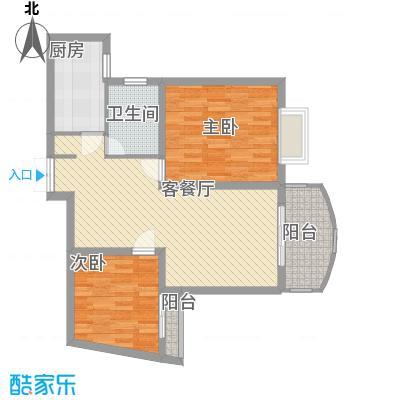 上海壹街区89.04㎡上海户型2室2厅1卫1厨
