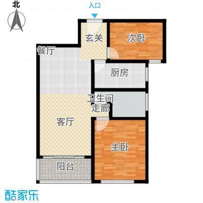 卢湾都市花园88.33㎡上海户型2室2厅1卫1厨