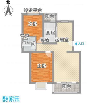 祥和尊邸88.46㎡上海户型2室1厅1卫1厨