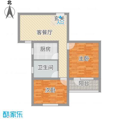 真情公寓三期86.05㎡真情公寓三期86.05㎡2室1厅1卫1厨户型2室1厅1卫1厨