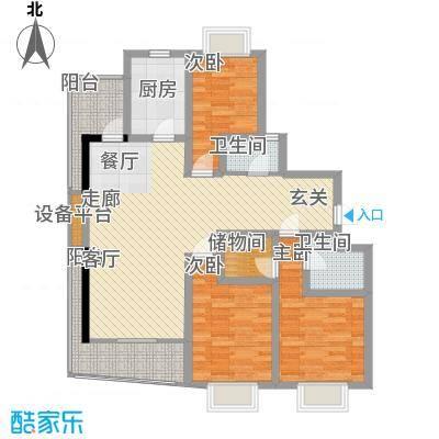 祥和星宇花园105.92㎡105.92平米户型3室2厅2卫1厨
