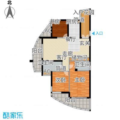 海洲桃花园135.82㎡户型图F户型3室2厅2卫1厨