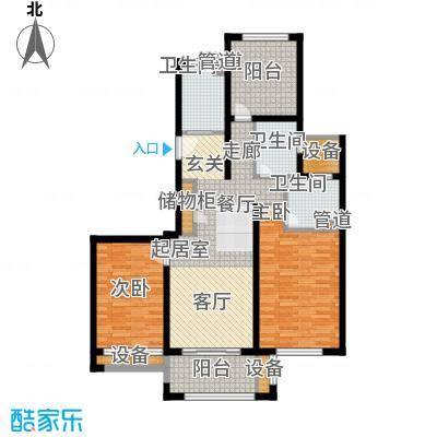 绿地21城滨江汇112.47㎡B2户型3室2厅2卫1厨