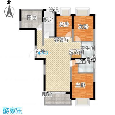 康桥半岛秀溪公寓120.00㎡A1户型3室2厅2卫1厨