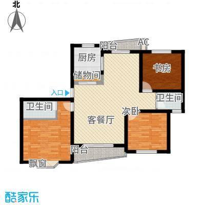 上海未来黄山新城127.77㎡上海未来(黄山新城)户型3室2厅2卫1厨