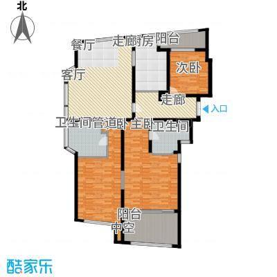 香梅花园五期182.00㎡户型A2户型3室2厅2卫