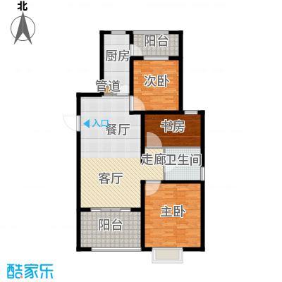 恒阳花苑海上花115.43㎡上海海上花(恒阳花苑)户型2室2厅1卫1厨