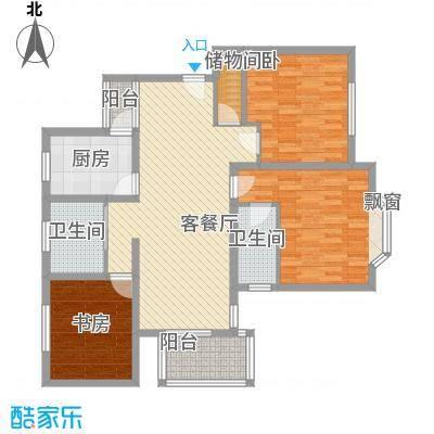 上海未来黄山新城129.08㎡上海未来(黄山新城)户型3室2厅2卫1厨