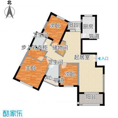 中星海上景庭148.23㎡上海户型3室2厅2卫1厨