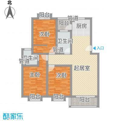 安康新村130.56㎡上海户型3室1厅1卫1厨