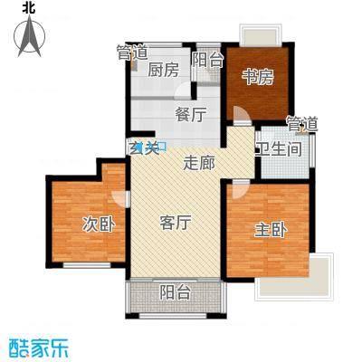 康庭苑115.00㎡f2户型3室2厅2卫1厨