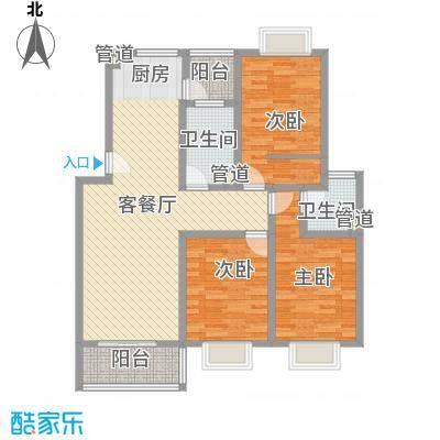 安康新村129.84㎡上海户型3室1厅2卫1厨
