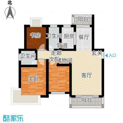 康庭苑145.00㎡f1户型3室2厅2卫1厨