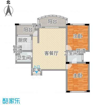 享域滨江138.29㎡B房型户型3室2厅1卫1厨