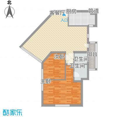 龙珠公寓106.35㎡龙珠公寓106.35㎡2室2厅2卫1厨户型2室2厅2卫1厨