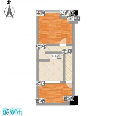 中茂世纪财富广场53.00㎡B户型二层户型2室1厅1卫1厨