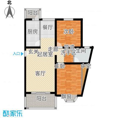 宏润公寓104.62㎡宏润公寓104.62㎡2室2厅1卫1厨户型2室2厅1卫1厨
