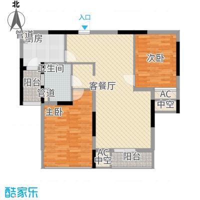 佘山假日半岛公寓110.00㎡M户型2室2厅1卫1厨