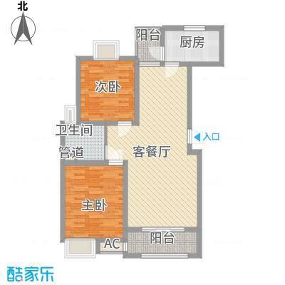 惠南一方新城99.00㎡户型2室2厅1卫1厨