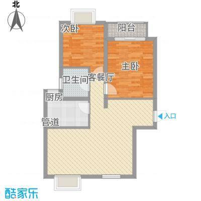 大华梧桐城邦2期b6户型2室2厅1卫
