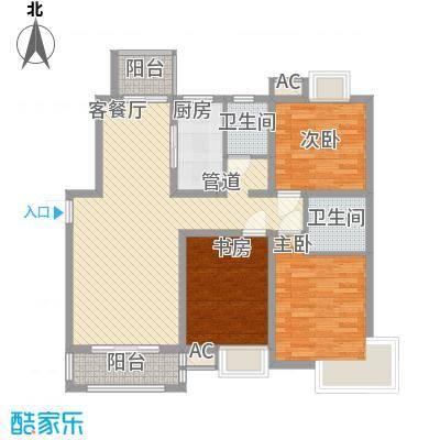 惠南一方新城120.00㎡户型3室2厅2卫1厨