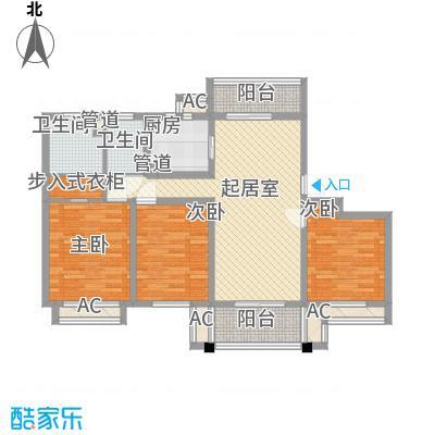 张江汤臣豪园一期130.00㎡G2气派空间户型3室2厅2卫1厨
