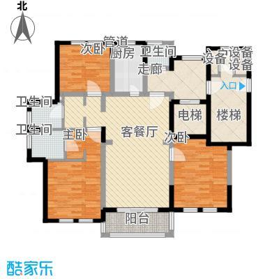 古北御庭148.00㎡3.5#B1户型3室2厅2卫1厨