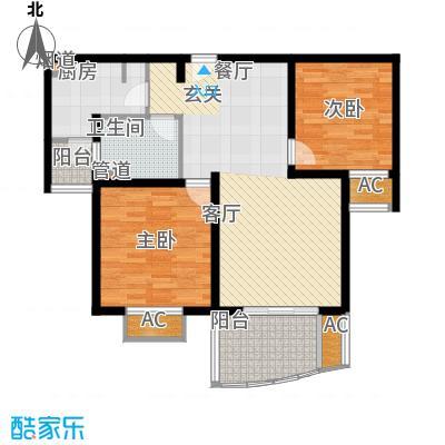 杉林新月家园85.00㎡上海户型2室2厅1卫1厨