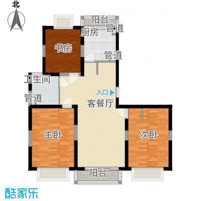 小上海新城三期130.00㎡C户型3室2厅2卫1厨