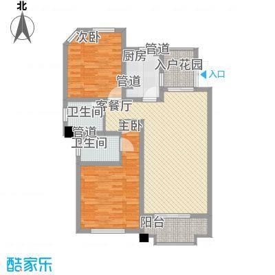 尚东国际名园111.99㎡J户型2室2厅2卫1厨