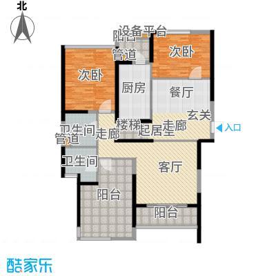 皇都花园2期164.02㎡CSA2(4、7、10层)户型3室2厅2卫