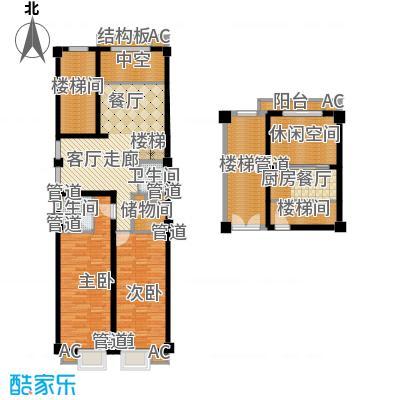 三湘四季花城财富广场140.00㎡loft复式户型3室2厅2卫