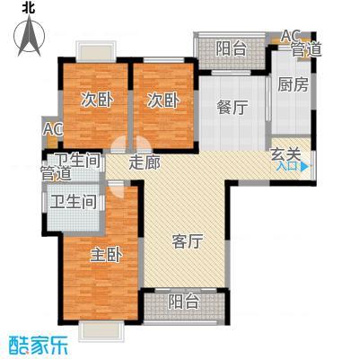 远雄徐汇园153.46㎡E05户型3房2厅2卫153.46㎡户型3室2厅2卫1厨