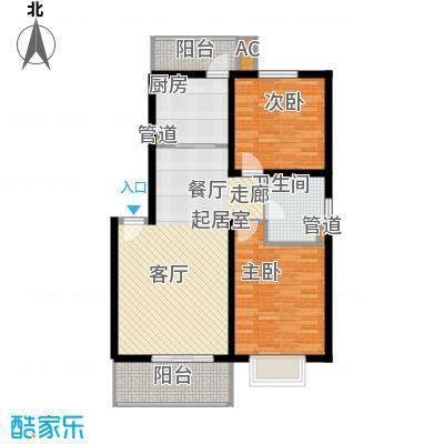 新水桥公寓87.00㎡新水桥公寓2室2厅1卫1厨户型2室2厅1卫1厨