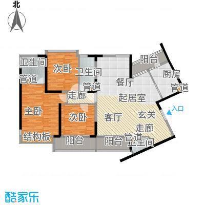 皇都花园2期183.72㎡CYA1(2、6、10层)户型3室2厅3卫