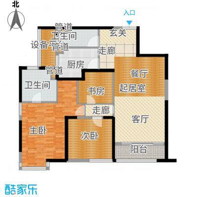 皇都花园2期145.28㎡CYB1(2、6、10层)户型3室2厅2卫