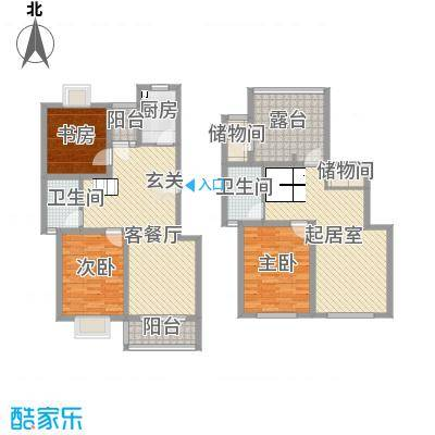 宝林春天苑申江远景168.00㎡上海宝林春天苑户型3室2厅2卫1厨