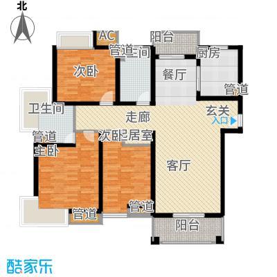 旭辉依云湾别墅135.00㎡户型3室2厅2卫