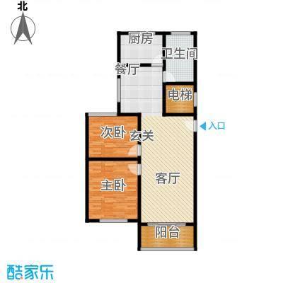 卢湾都市花园102.03㎡上海户型2室2厅1卫1厨